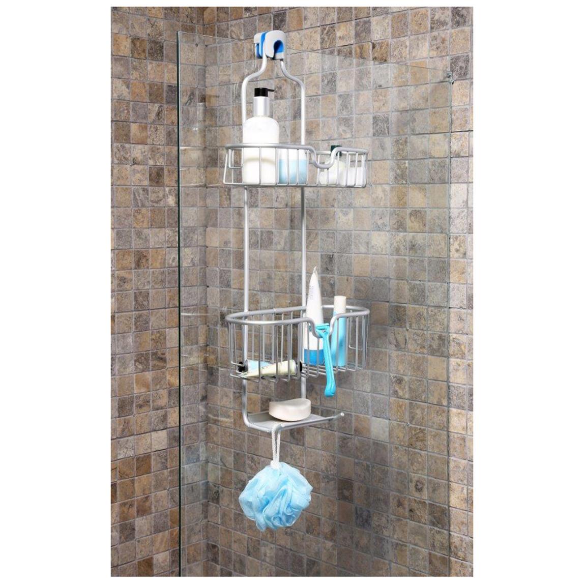 Paloma Aluminyum Duş Sepeti 2' li Mat Eloksal