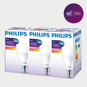 Philips Essential Led Ampul 14-100W Sarı E27 Normal Duy 3'lü Paket