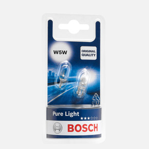 Bosch Oto Ampul 12VW5W Pure Light