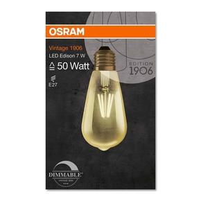 Led Edison Fil Dim 6,5W/824 E2 Led Filaman Edison 650Lm