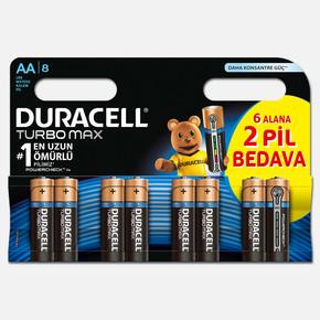 Duracell Turbomax Kalem Pil 8' li AA
