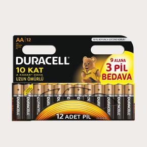 Duracell Basic Kalem Pil 12'li AA