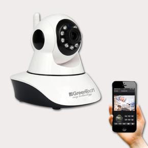 Greentech GT-IP37HD Hareketli Kablosuz WIFI Gece Görüşlü IP Kamera