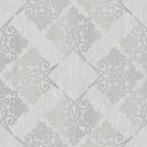 Emboss Yonca Kare Beyaz Duvar Kağıdı