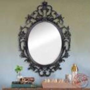 50X70 cm Siyah Dekoratif Ayna