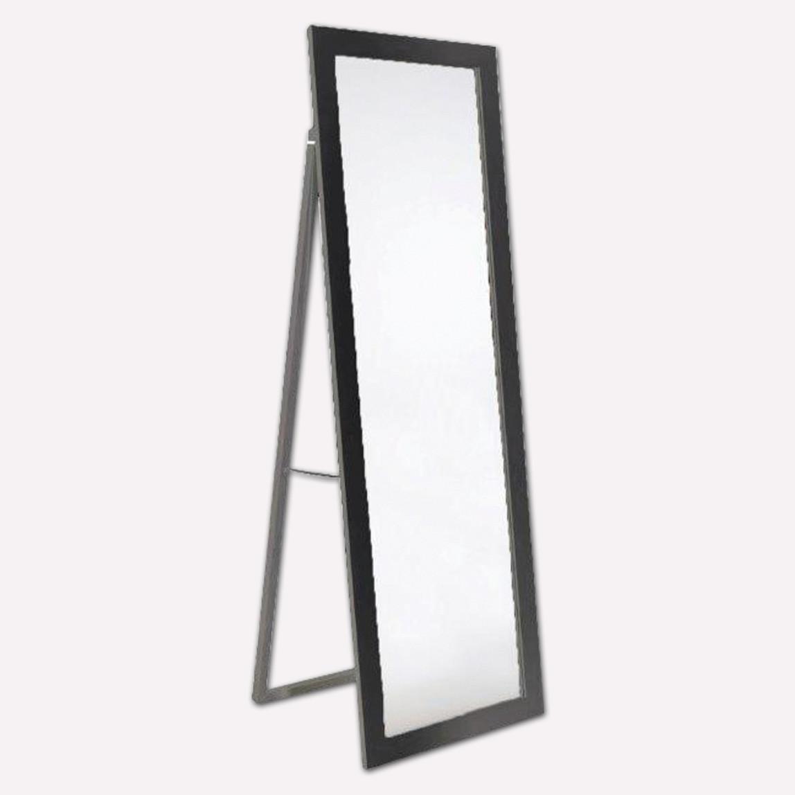 Dekoratif Ayaklı Ayna 50x150cm Siyah