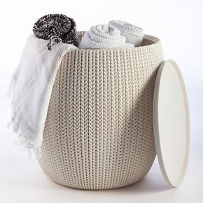 Keter Urban Knit Örgü Sehpa ve Puf Seti Beyaz