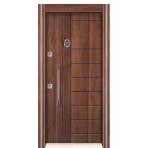 Ky 466 Ahşap Kaplı Çelık Kapı Sol 14-22 cm Kasa