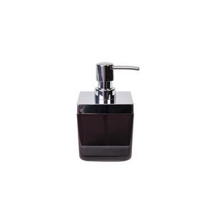 Toskana Sıvı Sabunluk Şeffaf Siyah