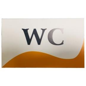 WC İsimlik - 19X12Cm Kendınden Yapıskanlı