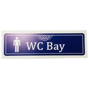Bay WC İsimlik 20X6,5Cm Kendinden Yapışkanlı