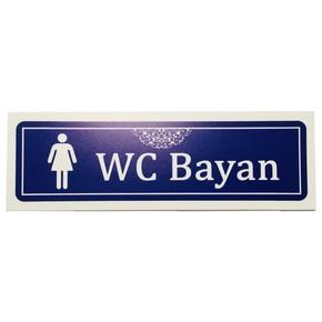 LOREX LR-ISBWCN Bayan WC  İsimlik 20X6,5Cm Kendinden Yapışkanlı