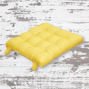 Rattan Sandalye Minderi Sarı 43x43cm