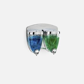 Flosoft Sıvı Sabunluk İkiz 350 Ml+350 Ml Krom