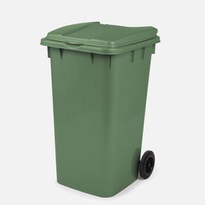 Mono Tone Pedallı Çöp Kovası Yeşil 240 Litre