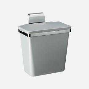Metal Askılı  Plastik Çöp Kovası Metal Gri 11Lt