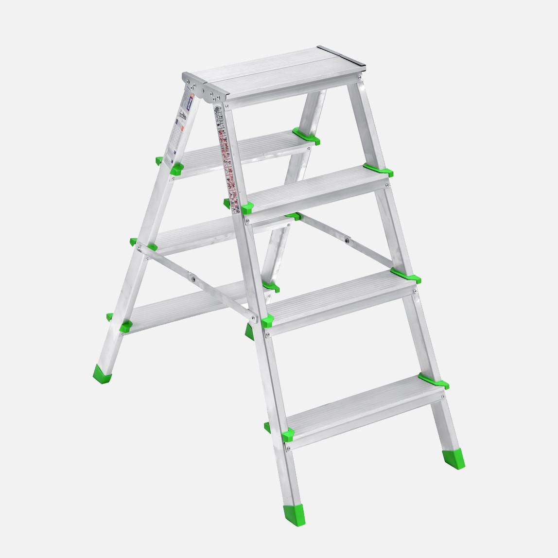 Saraylı 4+4 Basamaklı Çift Taraflı Aluminyum Merdiven