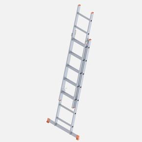 Saraylı 2 Kademeli Sürgülü 2X7 Basamaklı Aluminyum Endüstriyel Merdiven