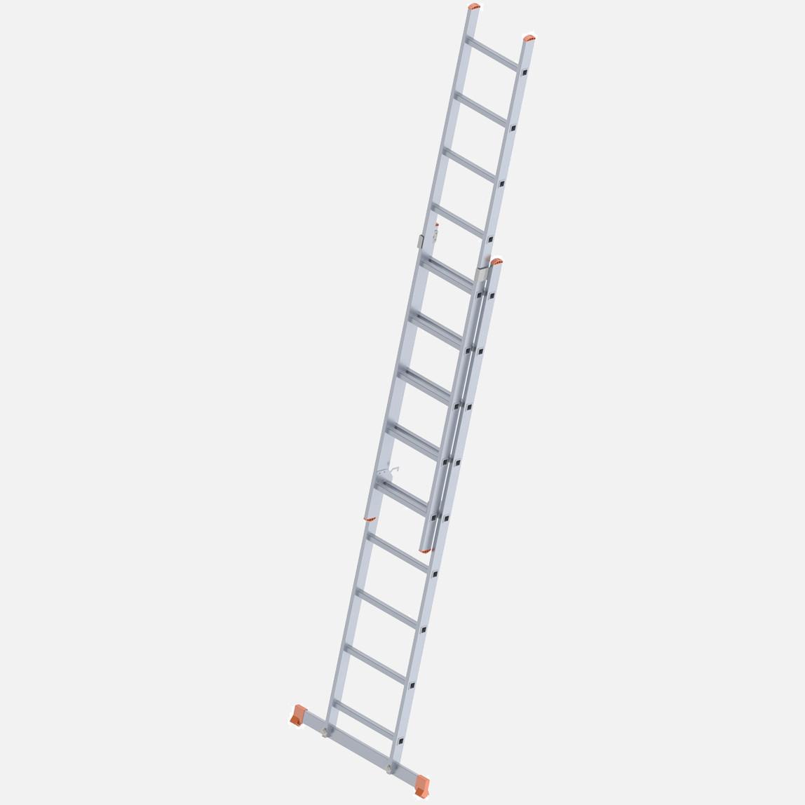 Saraylı 2 Kademeli Sürgülü 2X9 Basamaklı Aluminyum Endüstriyel Merdiven