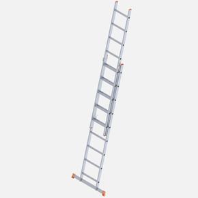 Saraylı 2 Kademeli Sürgülü 2X9 Basamaklı Alüminyum Endüstriyel Merdiven