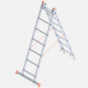 Saraylı 2X7 Basamaklı A Tipi İki Kademeli Endüstriyel Merdiven