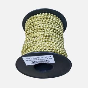 3,5 mm Metal Zincir Sarı