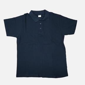 Polo Yaka  Lacivert Xl Beden Kısa Kol  T-Shirt