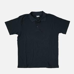 Polo Yaka  Siyah L Beden Kısa Kol  T-Shirt