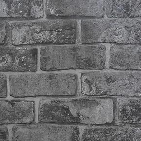 Siyah Tuğla Vinyl Duvar Kağıdı