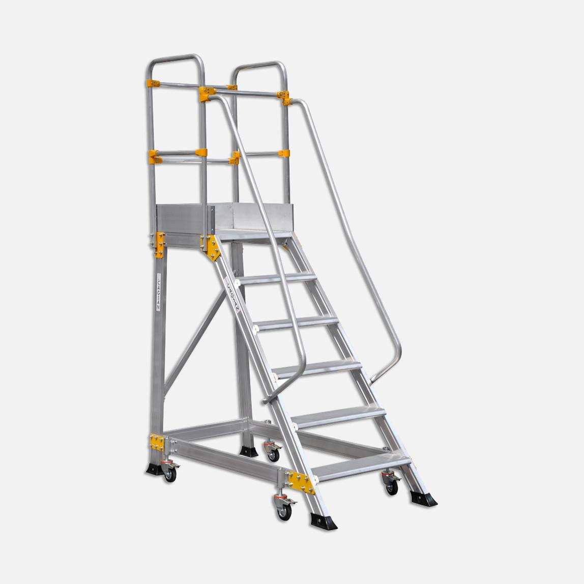 5+1 Basamaklı Endüstriyel Alüminyum Platform Ep 5