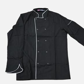 Garnili Aşcı Ceketi Siyah L