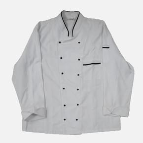 Garnili Aşcı Ceketi Beyaz S