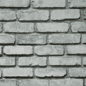 3D Tuğla - Gri Duvar Kağıdı