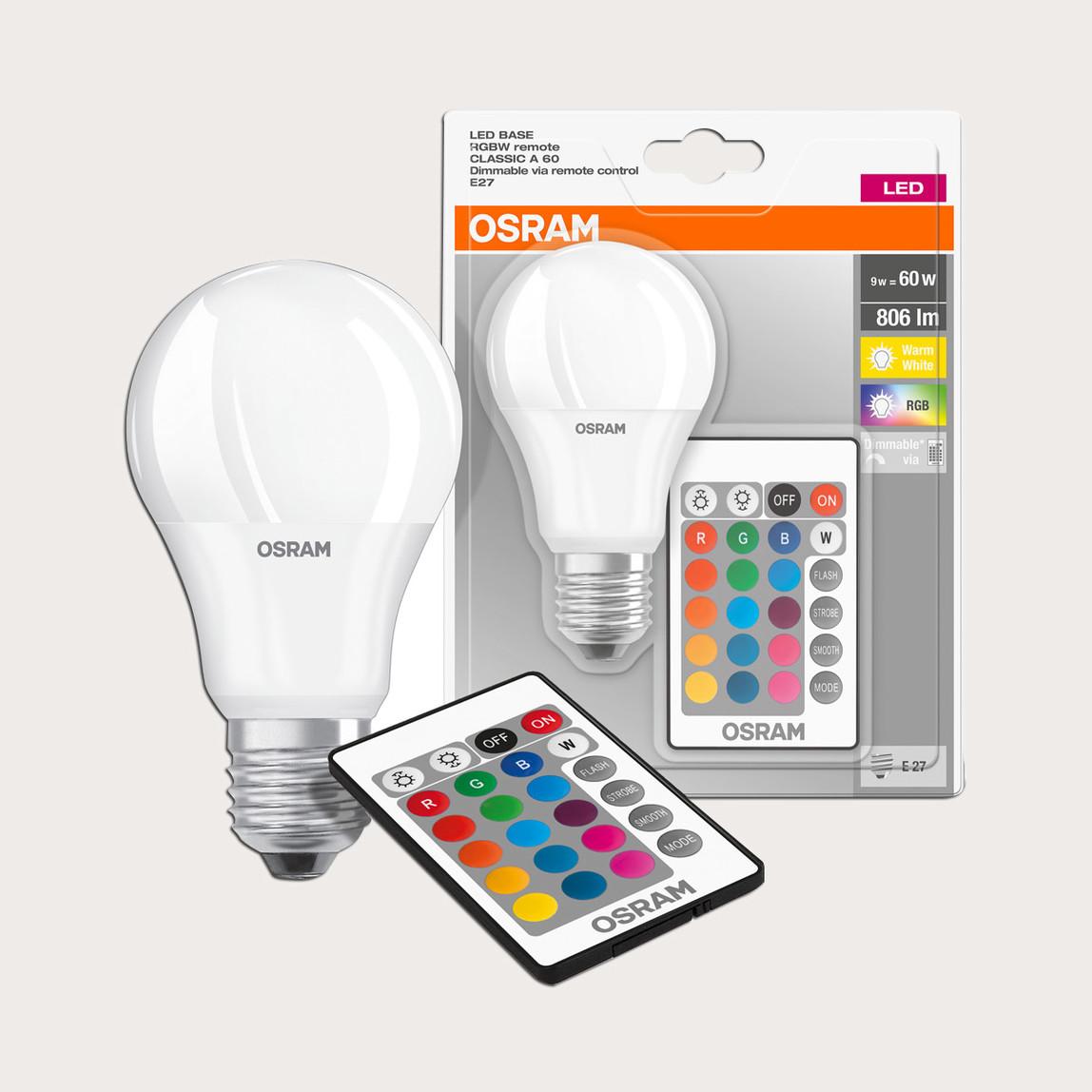 Osram 9W E27 Duy Renk Değiştiren Uzaktan Kumandalı Led Ampul