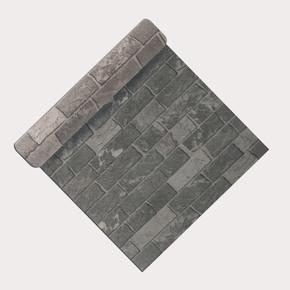 Emboss Siyah Tuğla Duvar Kağıdı