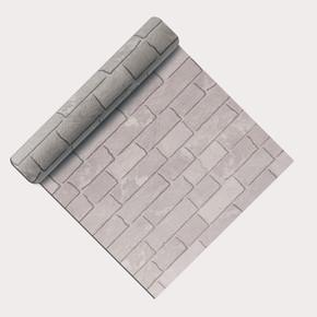 Emboss Beyaz Tuğla Duvar Kağıdı