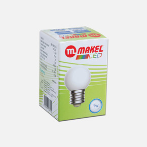 Makel 1 Watt Led Gece Lambası Ampul Beyaz