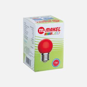 Makel 1 Watt Led Gece Lambası Ampul Kırmızı