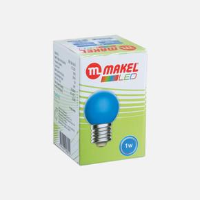 Makel 1 Watt Led Gece Lambası Ampul Mavi