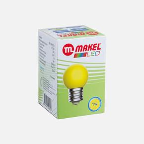 Makel 1 Watt Led Gece Lambası Ampul Sarı
