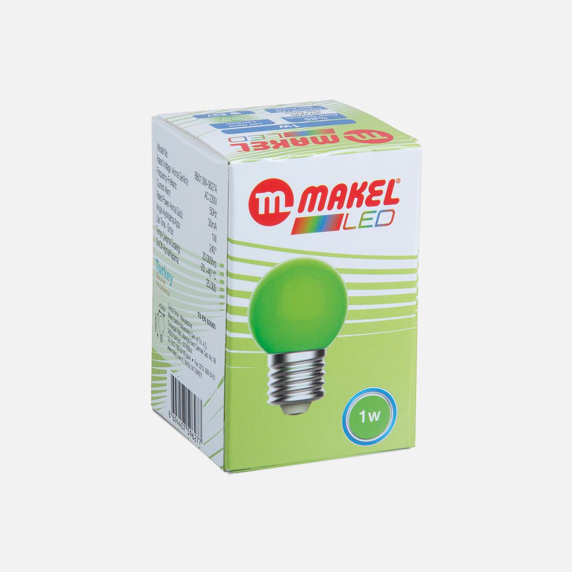 Makel 1 Watt Led Gece Lambası Ampul Yeşil