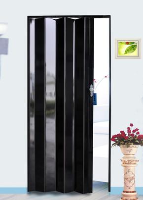 Highgloss Akordiyon Kapı Siyah