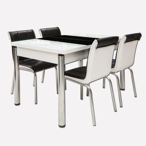 4 Sandalye + Açılır Mutfak Masası