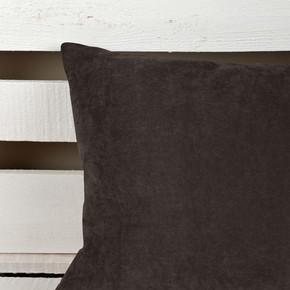 Sedef Süet Yastık Kahverengi 45x45cm