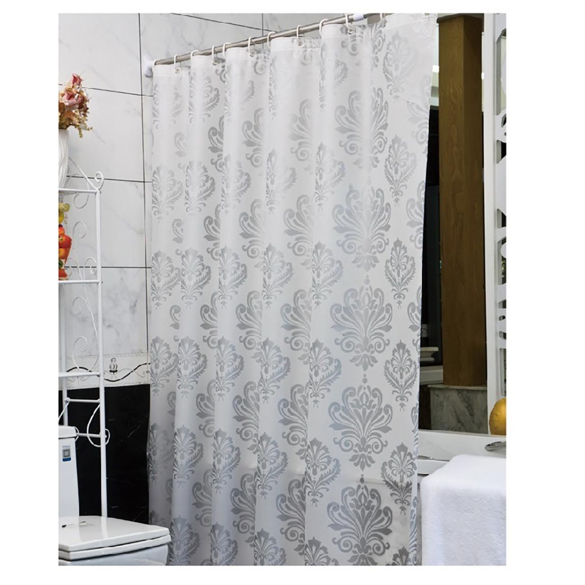 Yankı White Banyo Perdesi Peva 180x200 cm