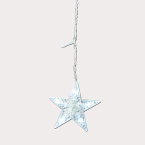 Yılbaşı 12'li Yıldız Led Zincir Beyaz Işık