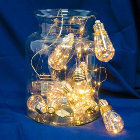 Yılbaşı Dize 100 Led 10m 10 'lu Ampul Sarı Işık