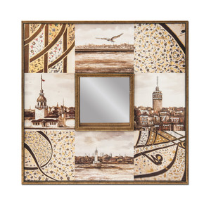 Aynalı Dekoratif Resim 30x30cm