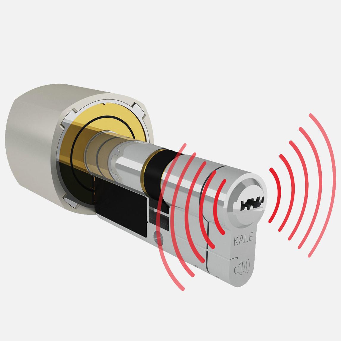 Alarmlı Sistem Silindir Mandal Saten 68 mm