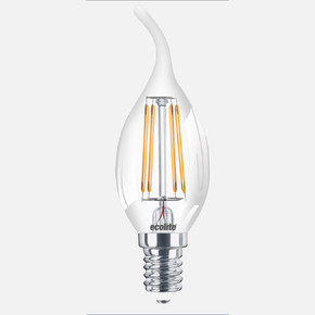 Ecolite Led Filament Flame 2'li C35 Ampul